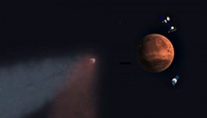 Siding Spring comet approaching Mars